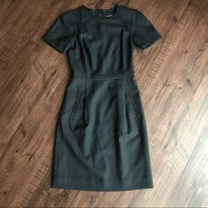 J. Crew Dresses - EUC J. Crew Wool Zip Shoulder Dress - Black